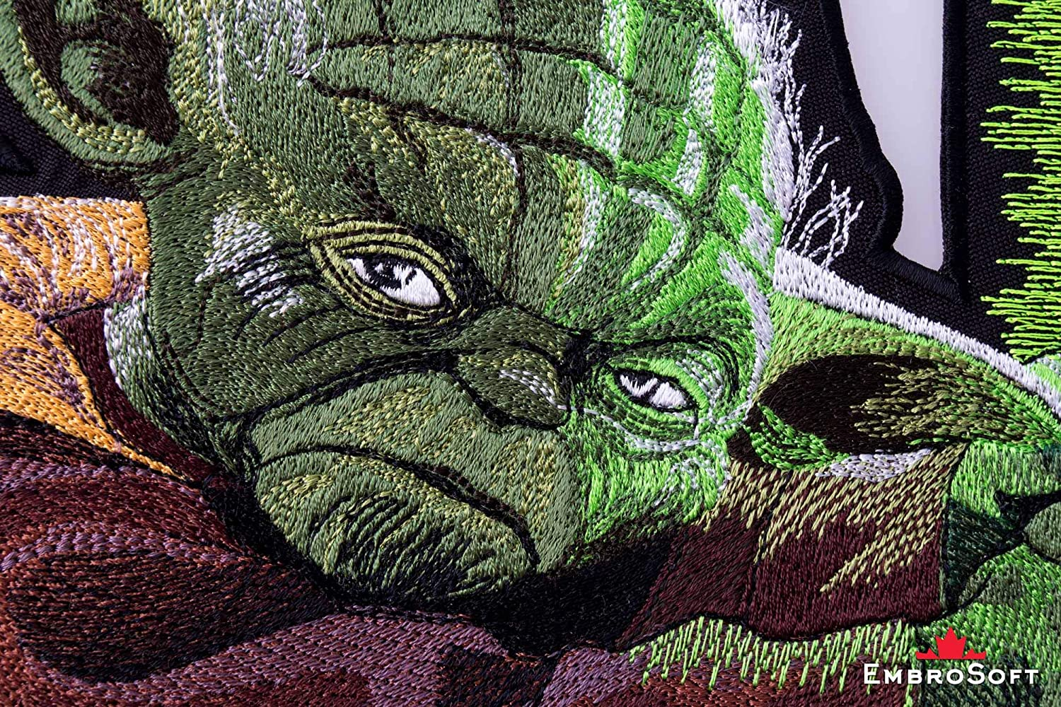 Star Wars Master Yoda Embroidered Iron On Patch  Sew On Applique