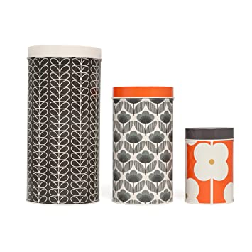 Orla Kiely Tins/Canisters   Set Of 3