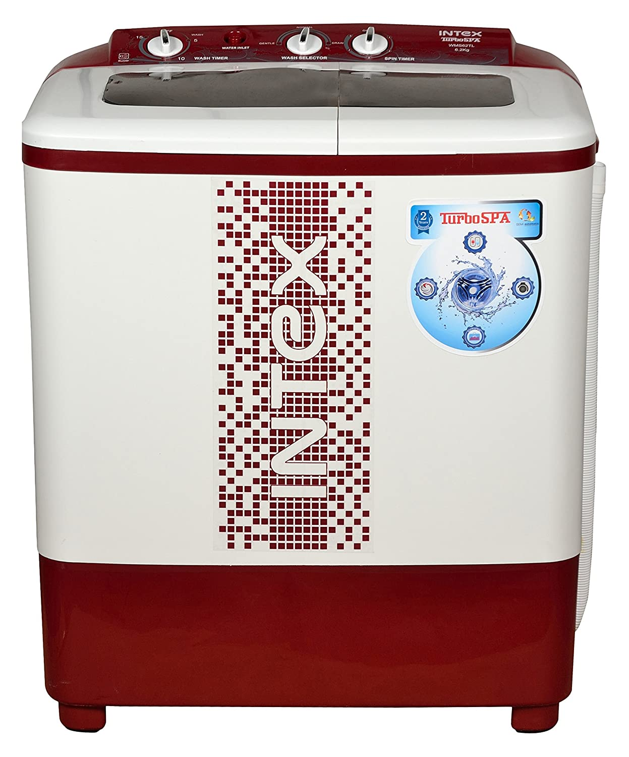 Intex 6.2 kg Top Loading Semi Automatic Washing Machine
