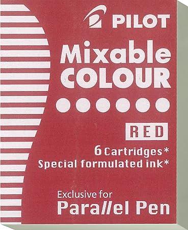 Pilot Paralellpen Tintenpatronen für den Parallel Pen Kalligraphie Füller (12 Patronen, Rot)