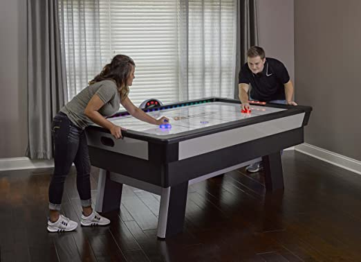 Amazon.com : Atomic Top Shelf 7.5u0027 Air Hockey Table With 120V Motor For  Maximum Air Flow, High Speed PVC Playing Surface For Arcade Style Play And  ...