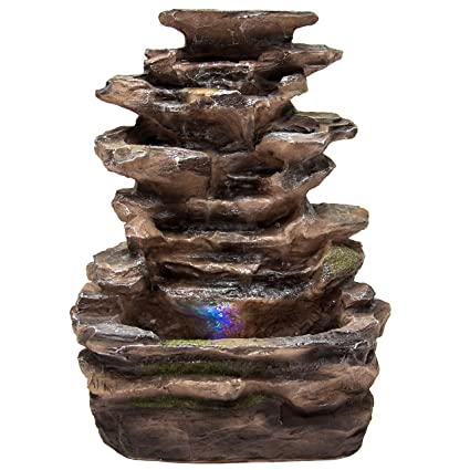 Amazon.com: Best Choice Products Home Indoor Tabletop Fountain ...