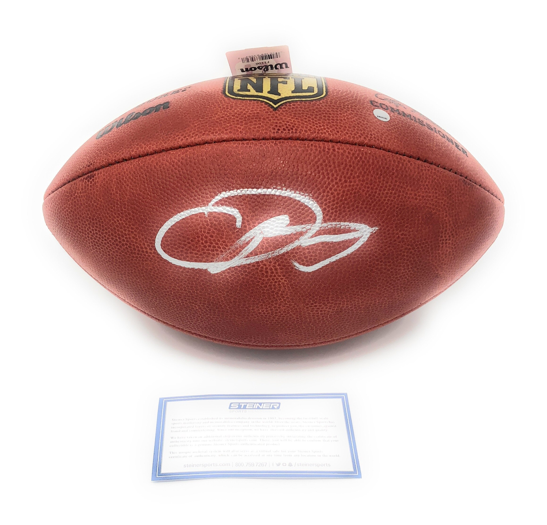 Odell Beckham Jr New York Giants Signed Autograph Authentic NFL Duke Football Steiner Sports Certified