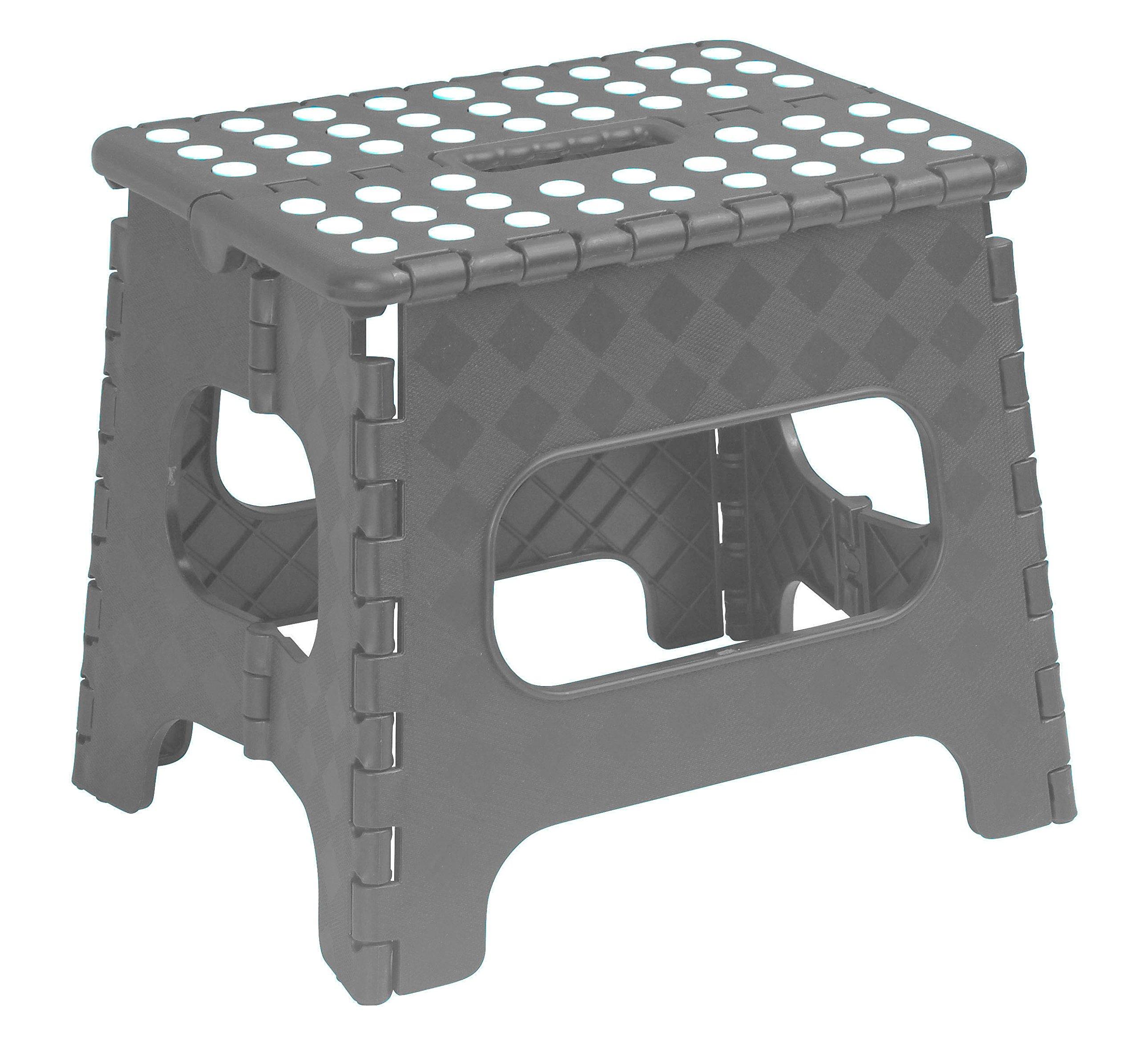 Superior Folding Step-Stool 13 Inch (Grey)