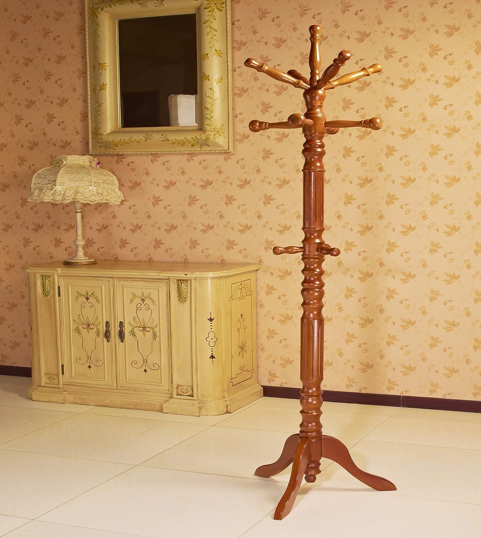 Frenchi Home Furnishing Traditional Coat Rack, Oak
