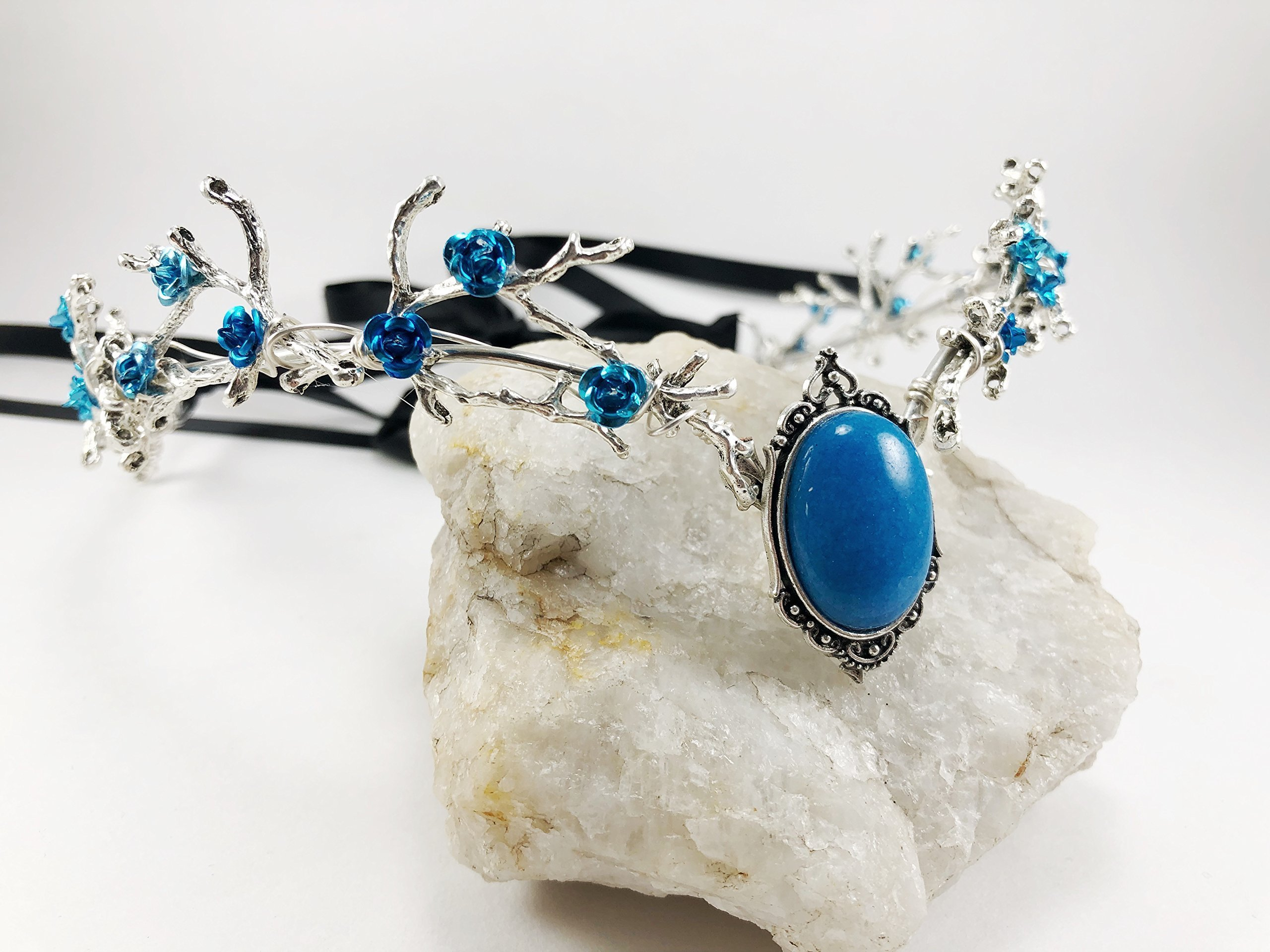 Silver Circlet Wedding Tiara with Silver Twigs, Queen Crown, Fairy Princess Crown, Woodland Fairy Queen Crown