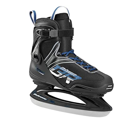 Bladerunner Ice by Rollerblade Zephyr Men s Adult Ice Skates, Black and Blue, Recreational, Ice Skates