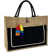 Hibala Woven Large Beach Bag Straw Bag Beach Tote Handmade Weaving Shoulder Bag Tassel Bag Handbag