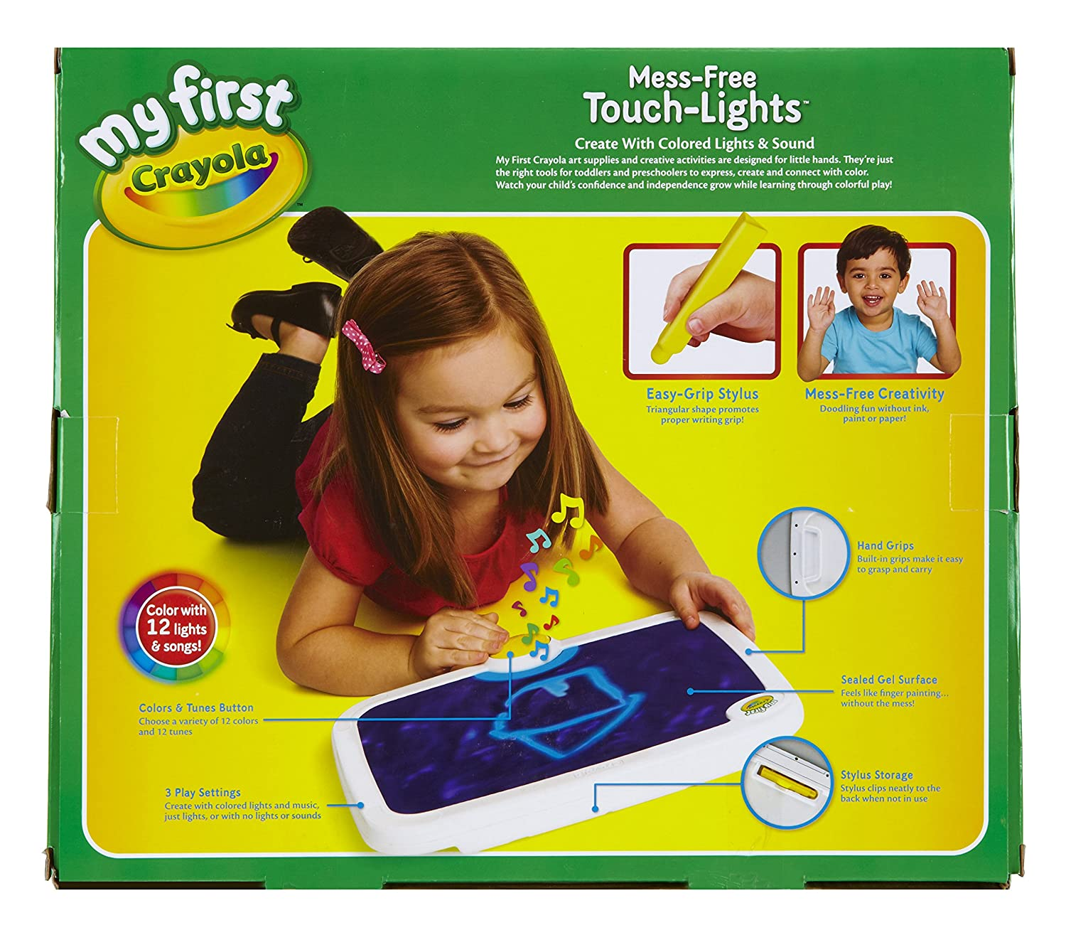 amazon com my first crayola mess free touch lights ages 2 to 4