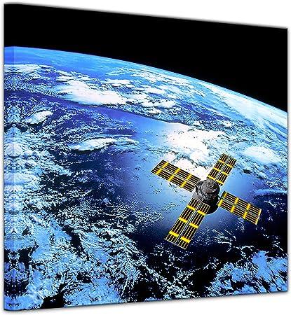 Bilderdepot24 Cuadros en Lienzo Espacio 20 x 20 cm - Listo tensa, Directamente Desde el Fabricante: Amazon.es: Hogar