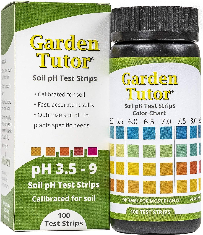 Garden Tutor Soil pH Test Strips Kit (9.9-9 Range) 9 Tests