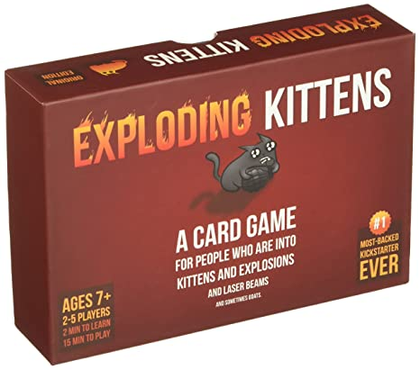 Amazoncom Exploding Kittens Card Game Toys Games
