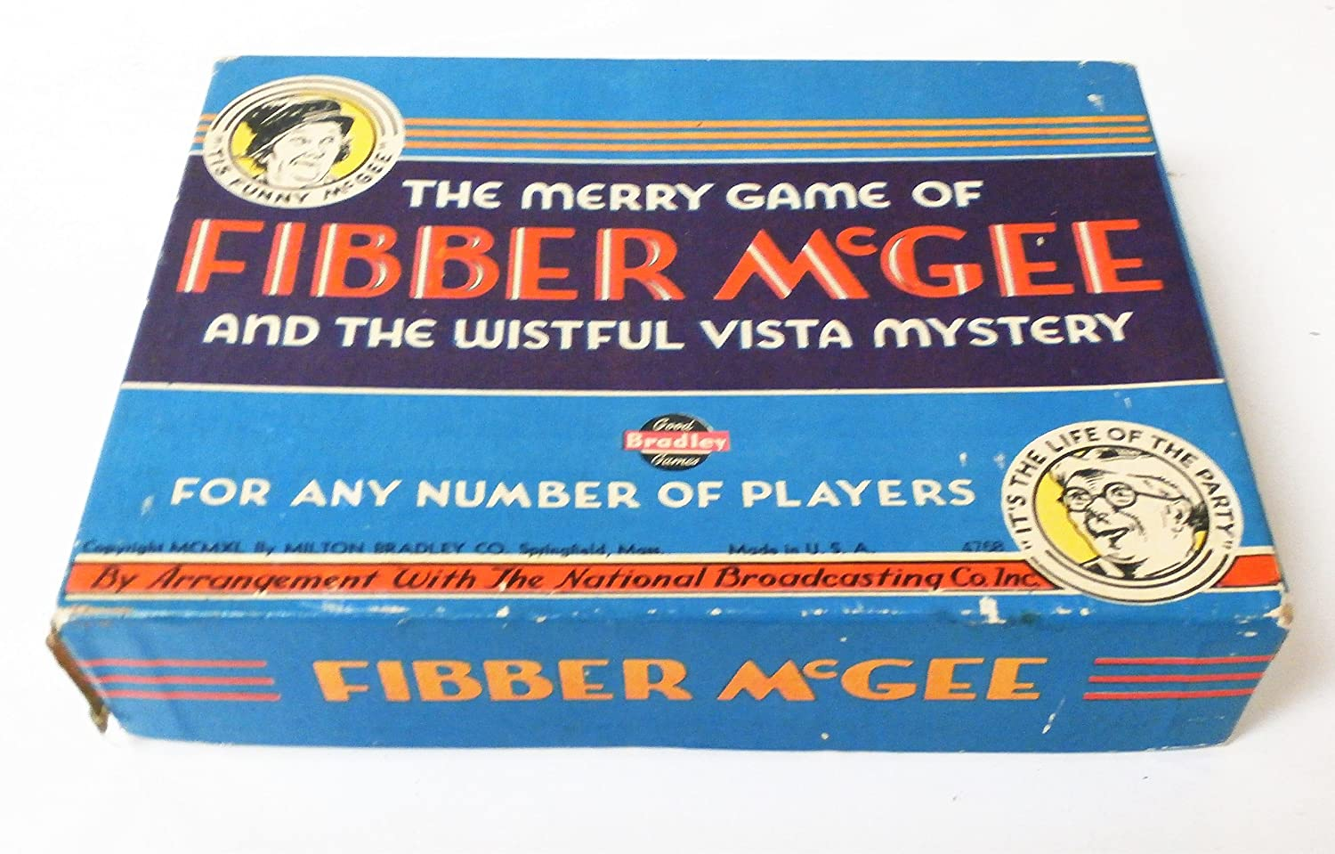 Amazon The Merry Game Of Fibber Mcgee Vintage 1940 Toys Games