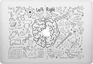 Laptop Sticker Decal - Brain Left Ride Side - Funny Cute Skins Stickers