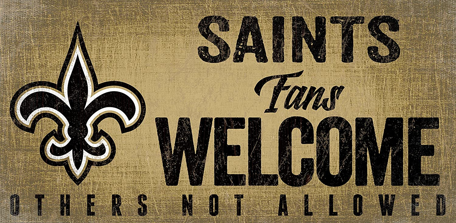 Fan Creations New Orleans Saints Fans Welcome Sign, Multicolored