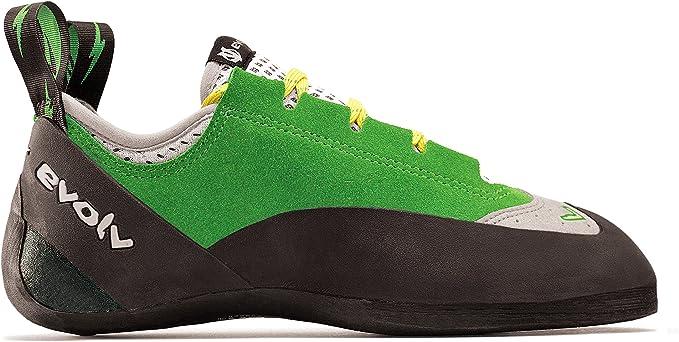 Evolv Spark Climbing Shoe - Mens Green/Gray 5.5: Amazon.es ...