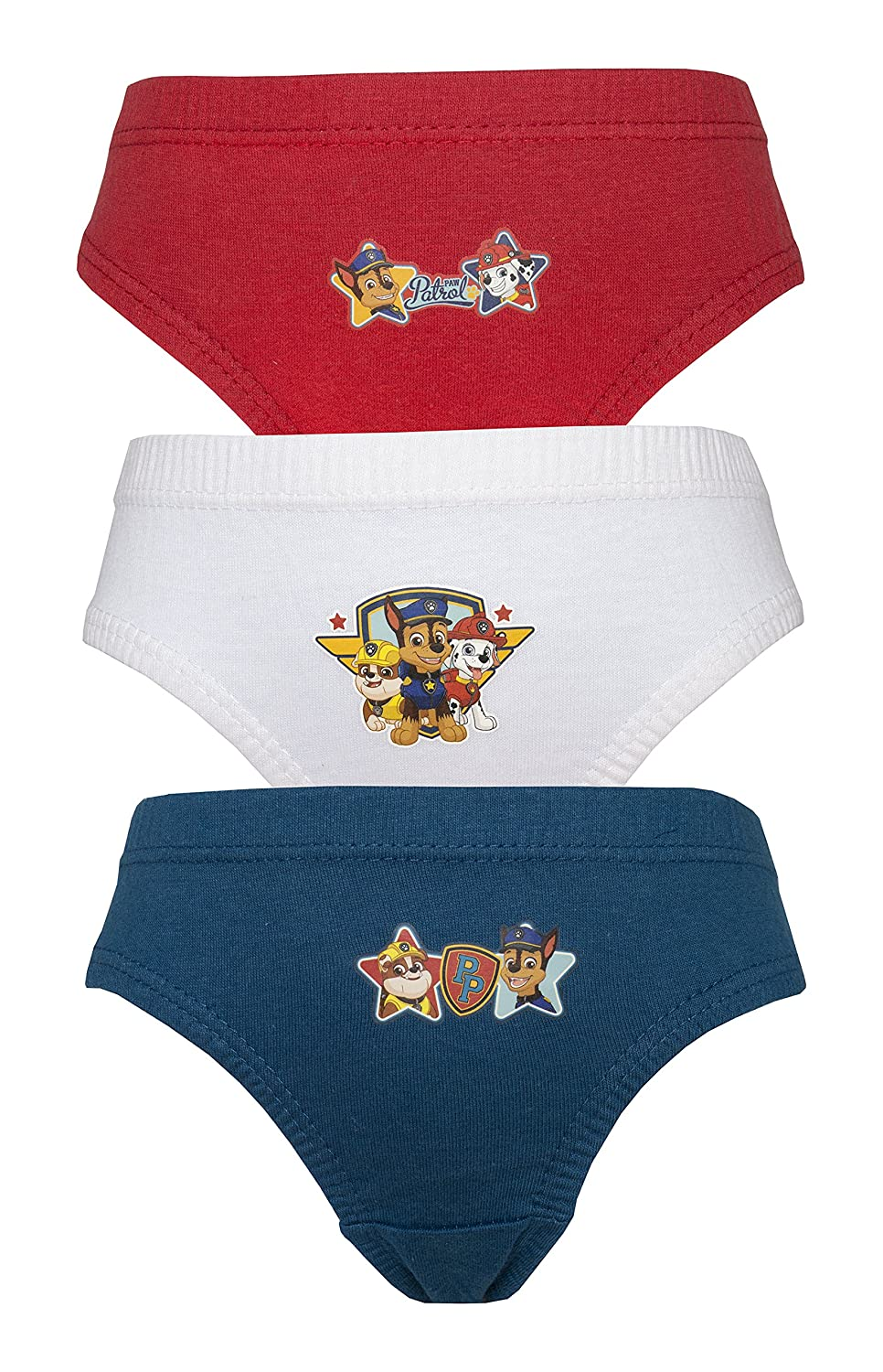 3 Pack Nickleodeon Boys Paw Patrol Pants/Briefs Various Designs 18 Months - 5