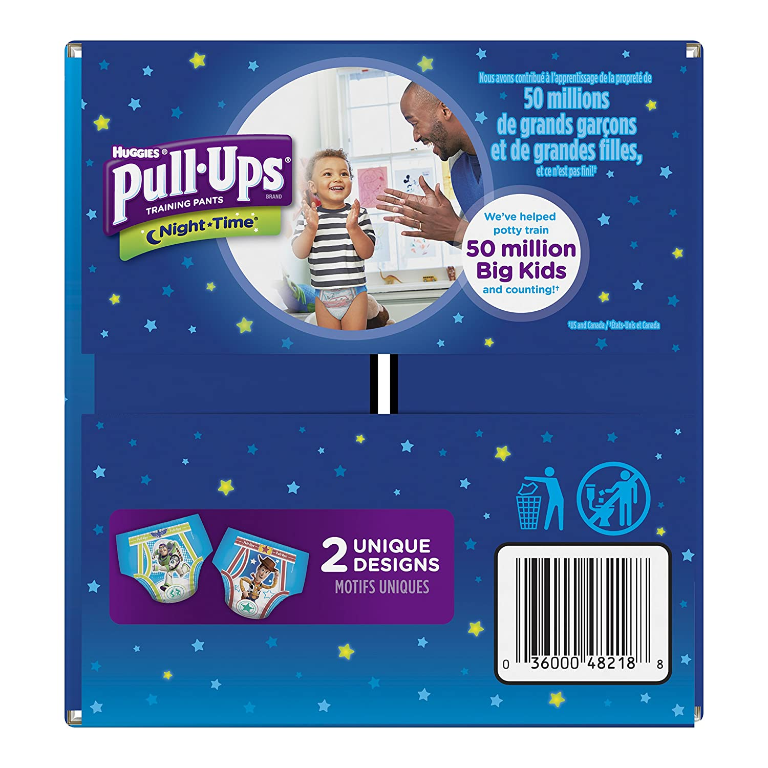 PACK OF 2 2T-3T 100 total pants Packaging May Vary 50 Ct 18-34 lb. Pull-Ups Night-Time Potty Training Pants for Boys
