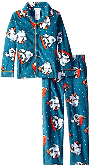 66b1843a62a2 Amazon.com  Komar Kids Boys  Little Yeti Micro Fleece Coat Set