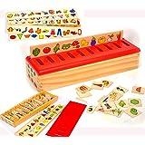 Clasificador de Madera con Tabla Clasificadora - 99 piezas- 8 Categorías Categories Total 80 Objetos -Educativo y Divertido