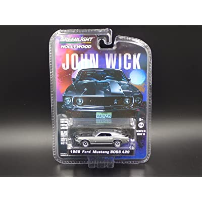 Greenlight 1/64 Hollywood Series 18 John Wick Movie (2014) 1969 Ford Mustang Boss 429 Die Cast Vehicle: Toys & Games