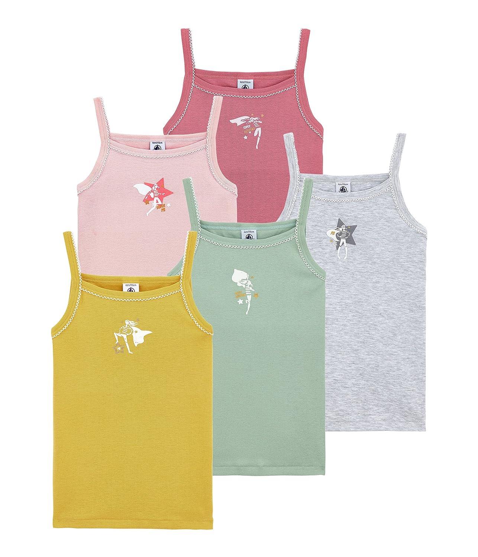 Petit Bateau Girls Vest Pack of 5