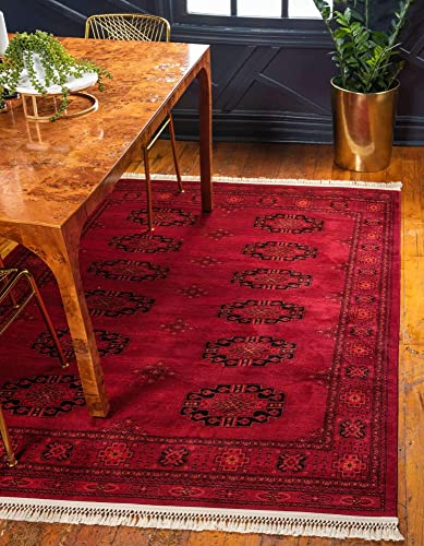 Unique Loom Tekke Collection Tribal Traditional Torkaman Red Area Rug 9' 0 x 12' 0