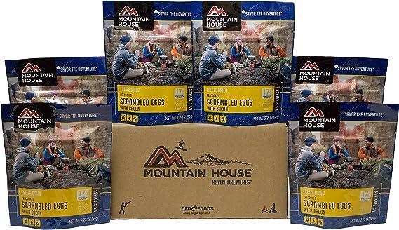 Mountain House Huevos revueltos con Tocino: Amazon.es: Deportes y aire libre