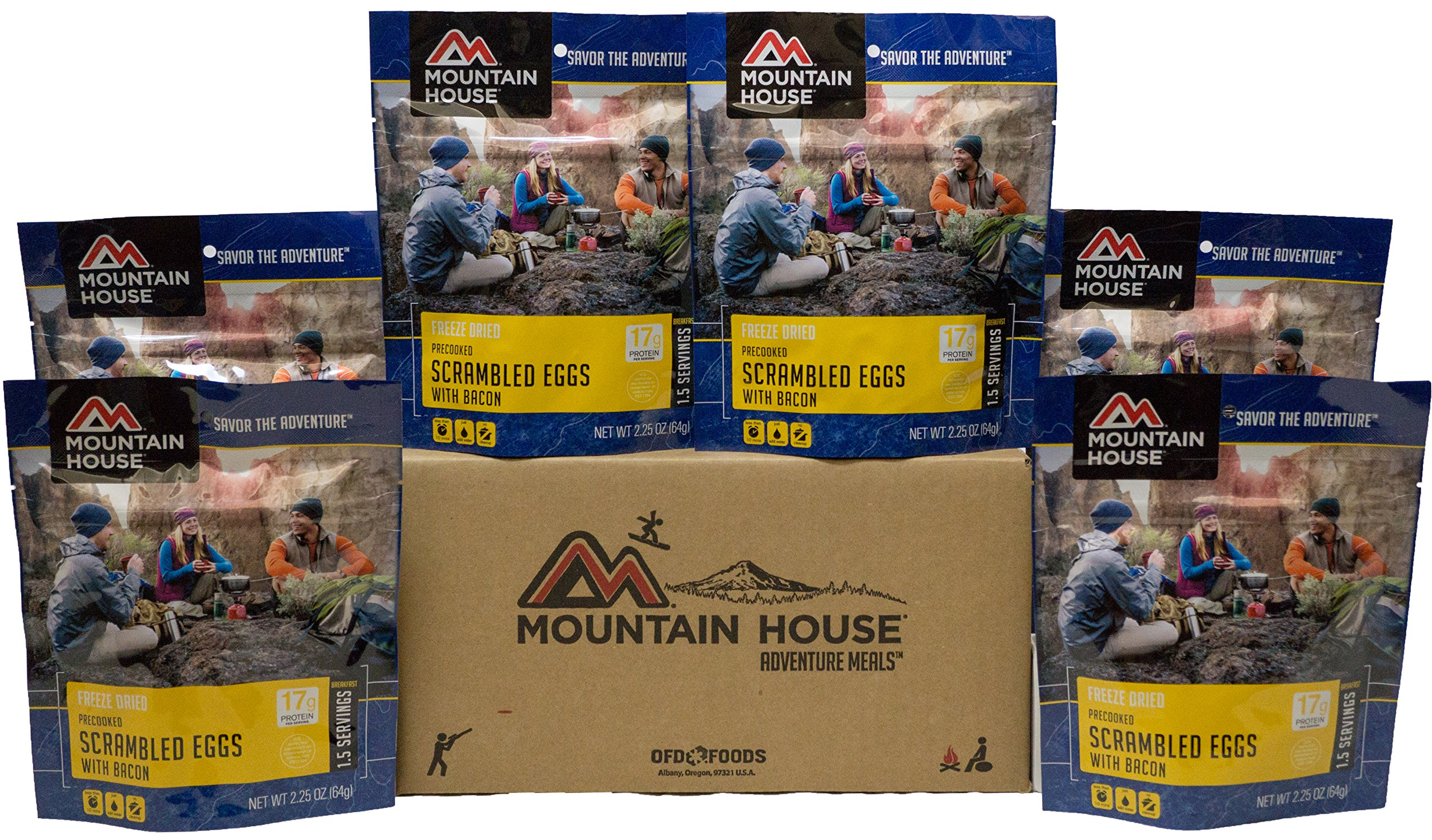 Mountain House Scrambled Eggs with Bacon Premium Case Pack by Mountain House