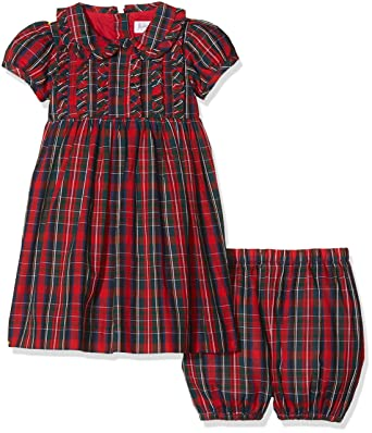 ef7461bfd Rachel Riley Baby Girls' Tartan Frill Bloomers Dress and shorts, Red, 1 Year