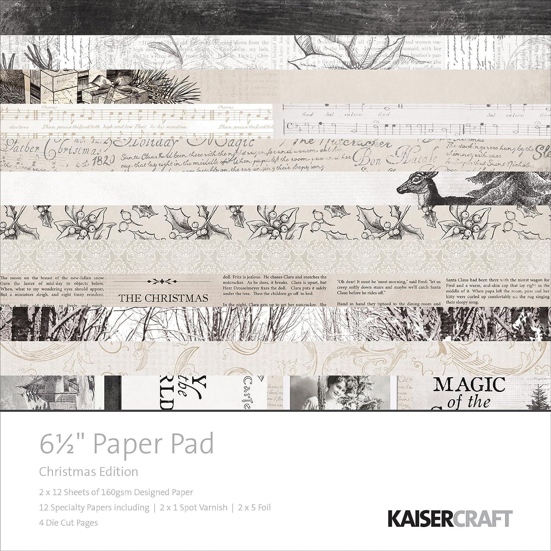 Kaisercraft Paper Pad 6.5X6.5 40//Pkg-Christmas Edition