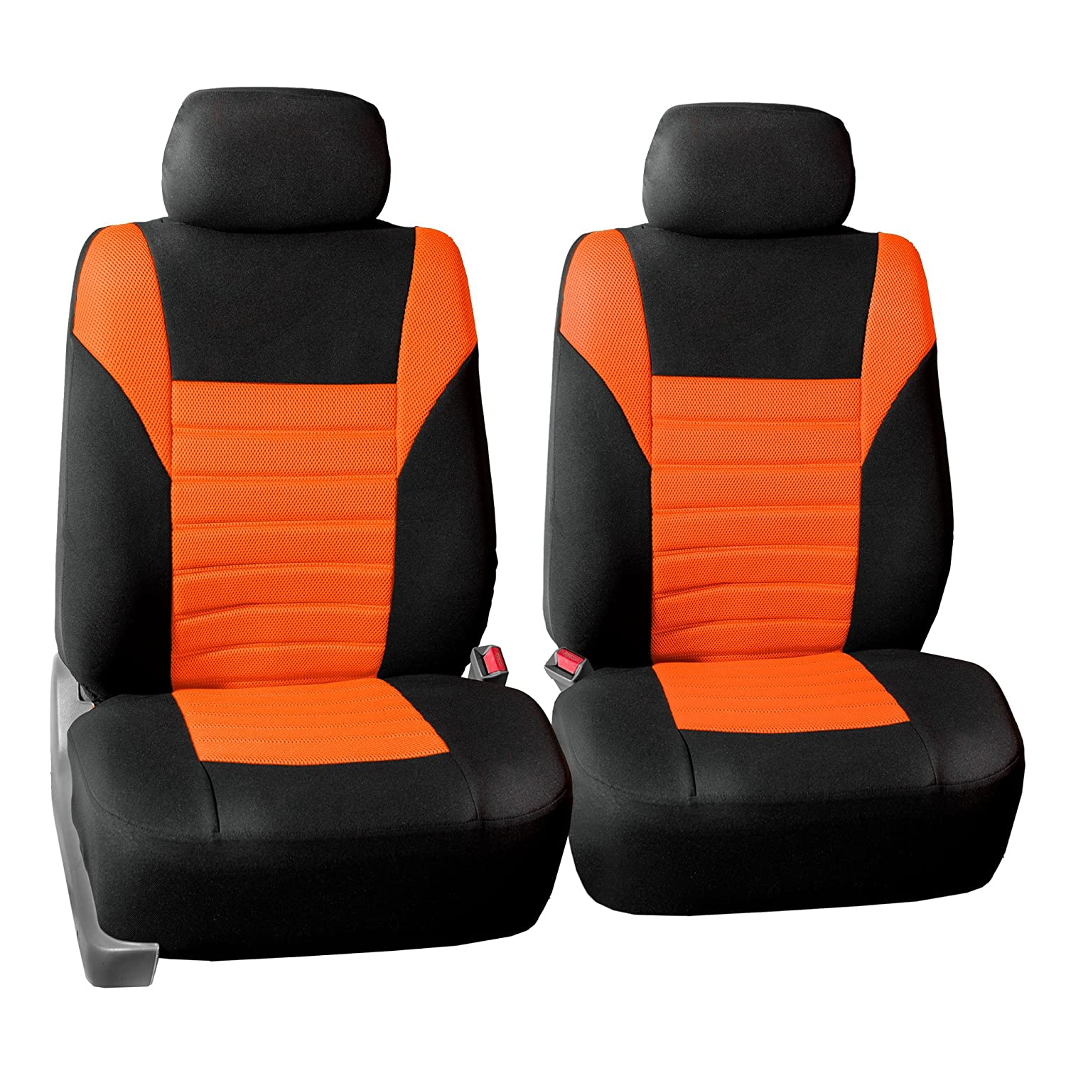 SUV or Van FH Group FH-FB068115 Premium 3D Air Mesh Seat Covers Full Set Airbag /& Split Ready Orange//Color- Fit Most Car Truck