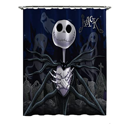 Image Unavailable Not Available For Color Jay Franco Disney Nightmare Before Christmas Moonlight Madness Shower Curtain
