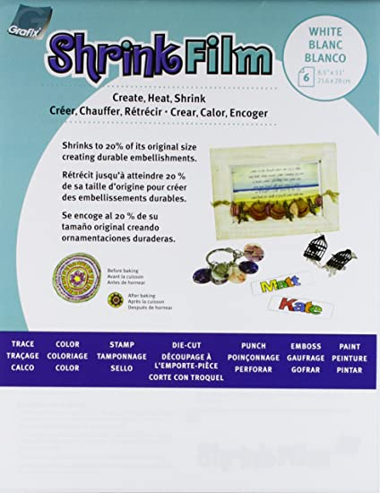 graphix shrink film white 85x11 6ct