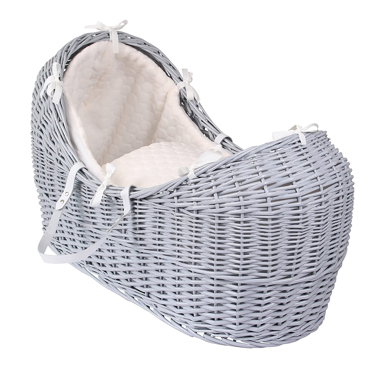 Clair de Lune Marshmallow Grey Wicker Noah Pod, Cream CL5540GCM