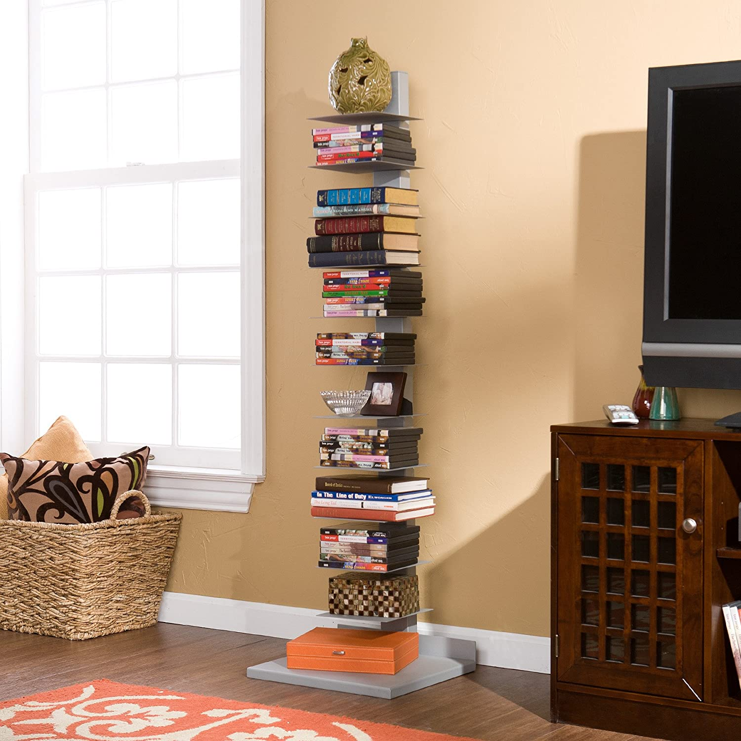 Amazon Com Spine Book Tower Kitchen Dining