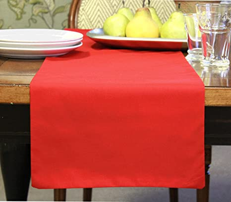 Christmas Runner Luxury extra wide  toile table runner Red Country runner Extra long toile runner