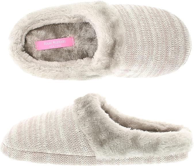 Isaac Mizrahi Women/'s Camden Marled Heather Knit Memory Foam Clog Slipper...