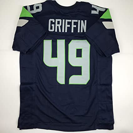 Unsigned Shaquem Griffin Seattle Blue Custom Stitched Football Jersey Size  Men s XL New No Brands  7b651dc29