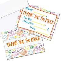 Kids Thank You Cards, 25 Fill in The Blank Thank You Cards for Kids, Children, Toddlers, Boys & Girls - Thank You Notes with Envelopes