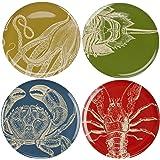 Thomas Paul Sea Life 11-Inch Dinner Plates, Set of 4