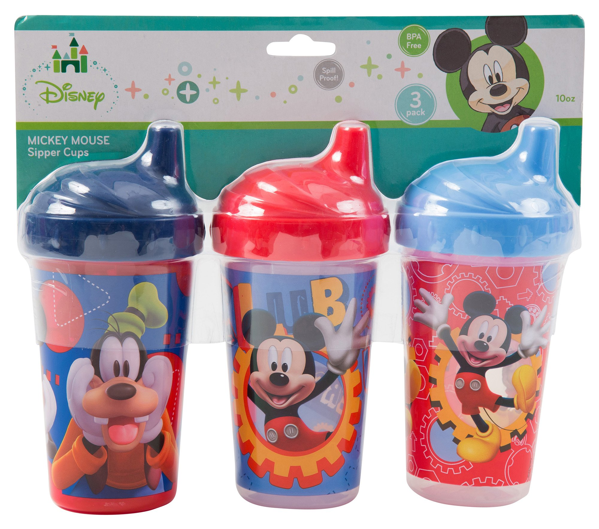 Amazon Com Disney Minnie Mouse Sippy Cups Pink 3 Count