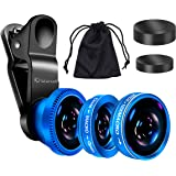 Act® 3 en 1 Universal clip appareil photo de téléphone portable objectif 180 degrés Fisheye 10x objectif macro 0.4x grand angle Objectif pour iPhone, HTC, Sony, Samsung, smart phone, iPad, Android, Motorola, Tablet PC