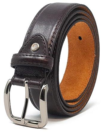 92313efe69b Ossi Hommes 32mm pantalon classique ceinture - Brun (taille 102cm - 112cm)
