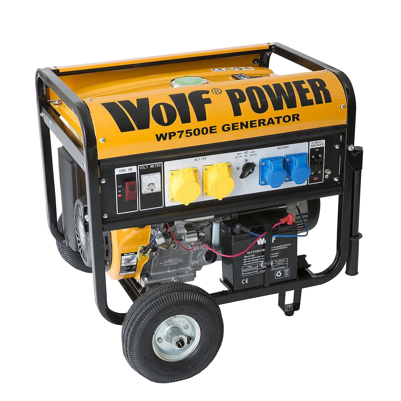 Wolf WP7500E 7000 Watt 15HP 8 75KVA Electric Start 4 Stroke