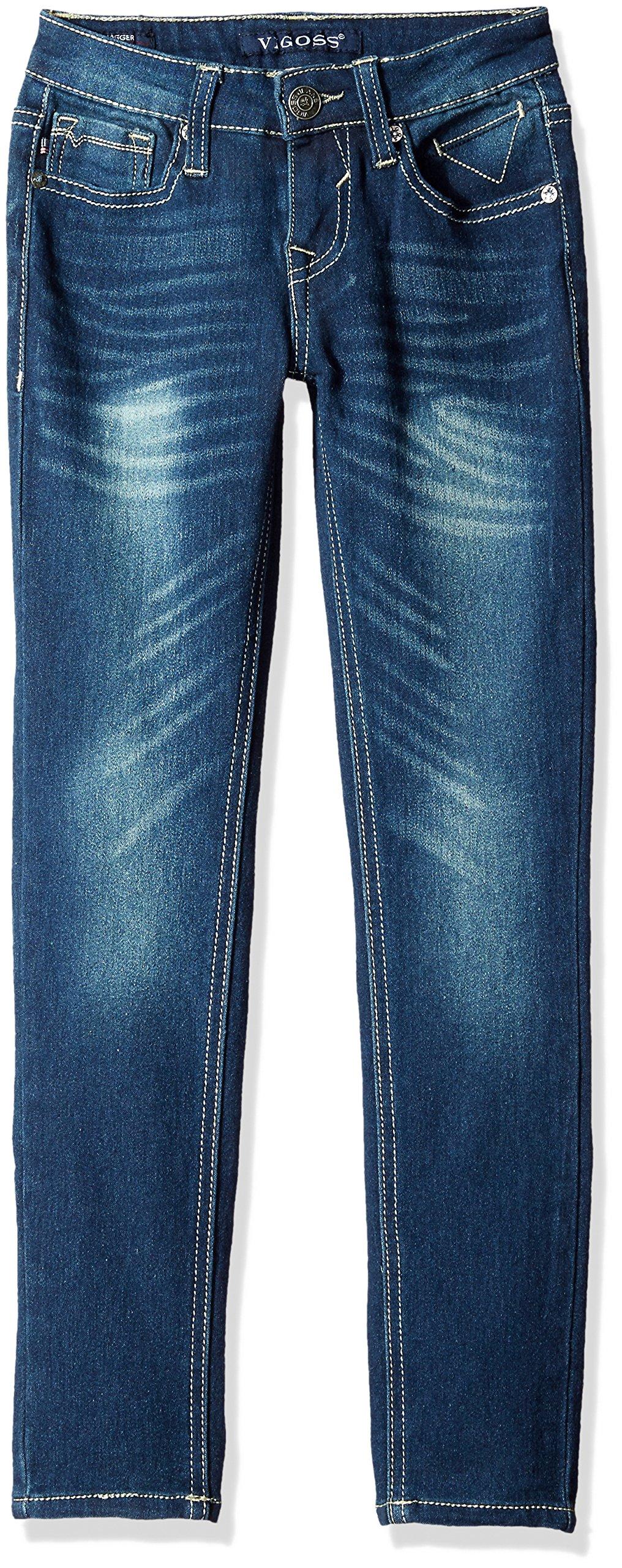 VIGOSS Girls' 5 Pocket Skinny Jean, Ink, 16