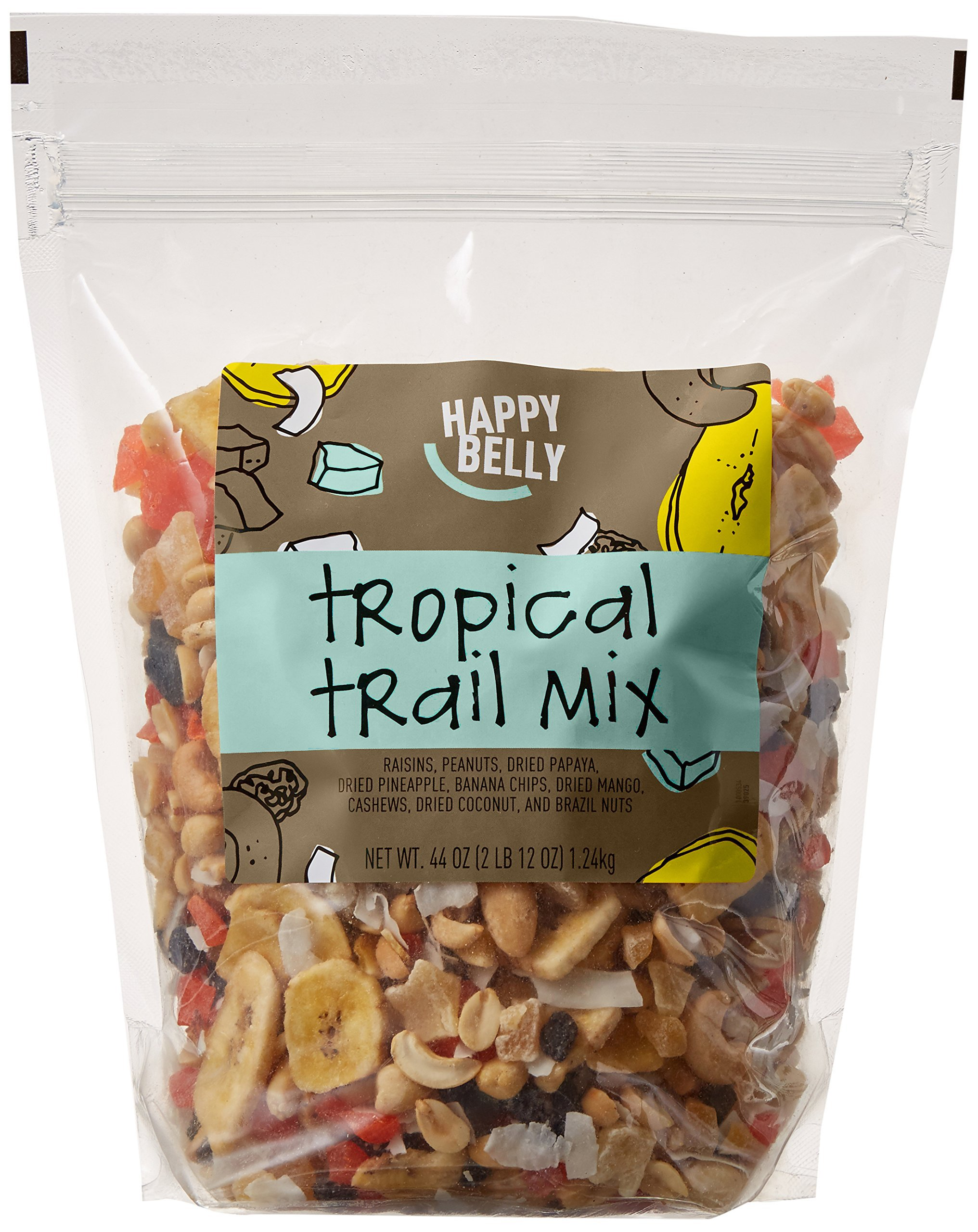 Amazon Brand - Happy Belly Amazon Brand Tropical Trail Mix, 44 ounce