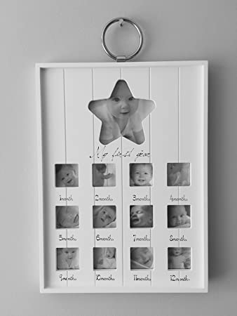 ukgiftstoreonline Beautiful Wooden Baby My First Year 12 Month ...