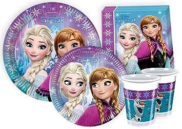 Ciao Y2499 Kit para mesa de fiesta Disney Frozen para 24 ...