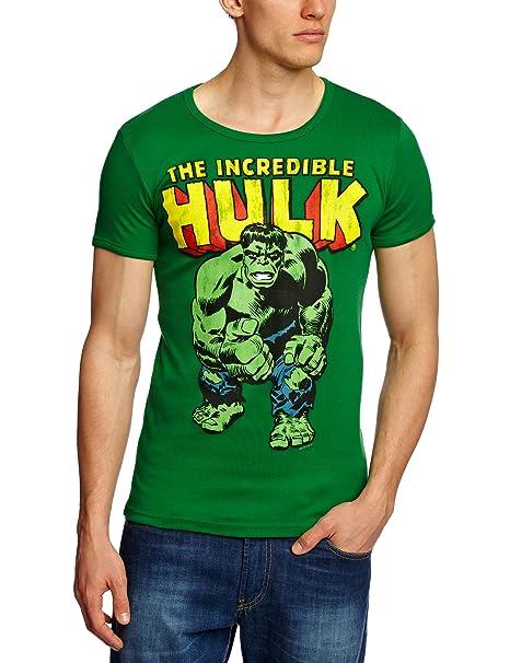 d0601942e9fae Logos (Baby) Slim Fit Marvel Hulk - Camiseta  Amazon.es  Ropa y accesorios